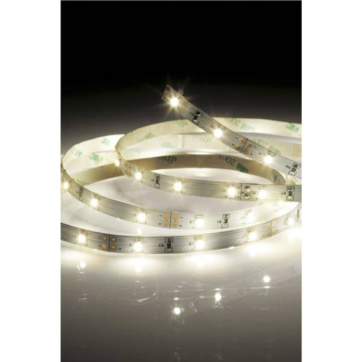 kit ruban led strip led led 1 x 22 5 w led int gr e blanc chaud leroy merlin. Black Bedroom Furniture Sets. Home Design Ideas