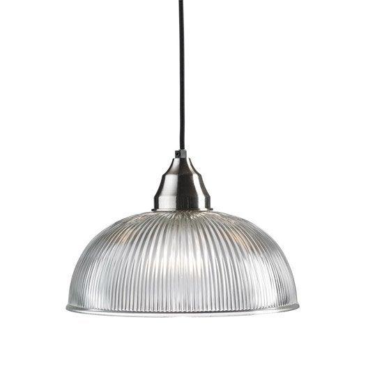suspension baroque asnen verre acier 1 x 40 w leroy merlin. Black Bedroom Furniture Sets. Home Design Ideas