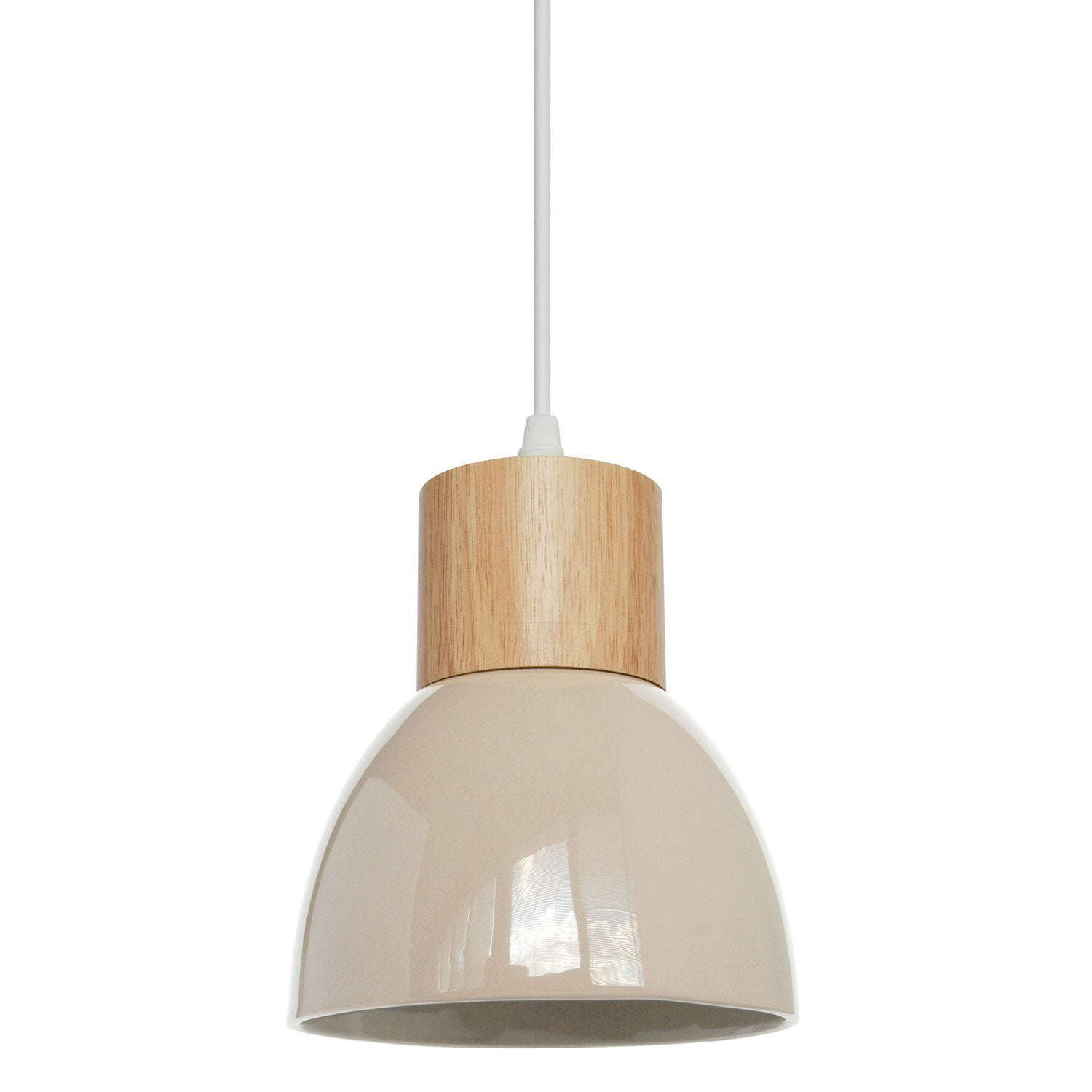 Suspension, e14 design Wilma céramique écru 1 x 40 W SEYNAVE