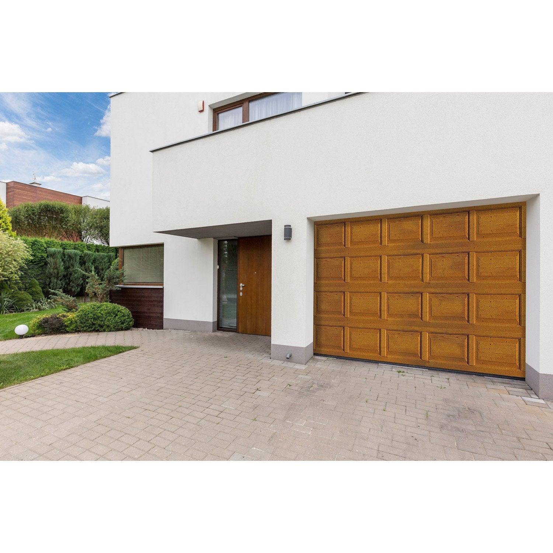 Porte De Garage Sectionnelle Motoris E Artens Premium H 212 X L 250