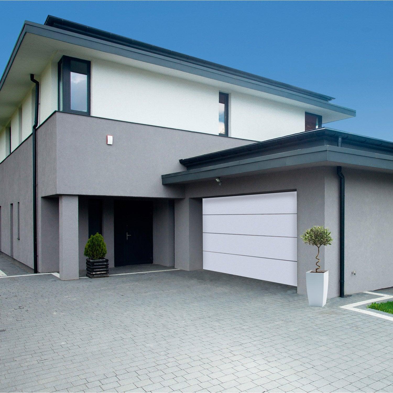 Porte De Garage Sectionnelle Motorisée ARTENS Premium H X L - Porte de garage sectionnelle avec reglage porte pvc