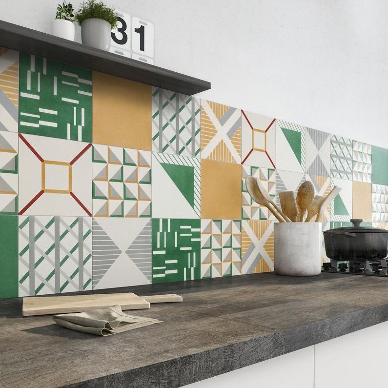 Carrelage sol et carrelage mural leroy merlin for Carrelage mural cuisine vert