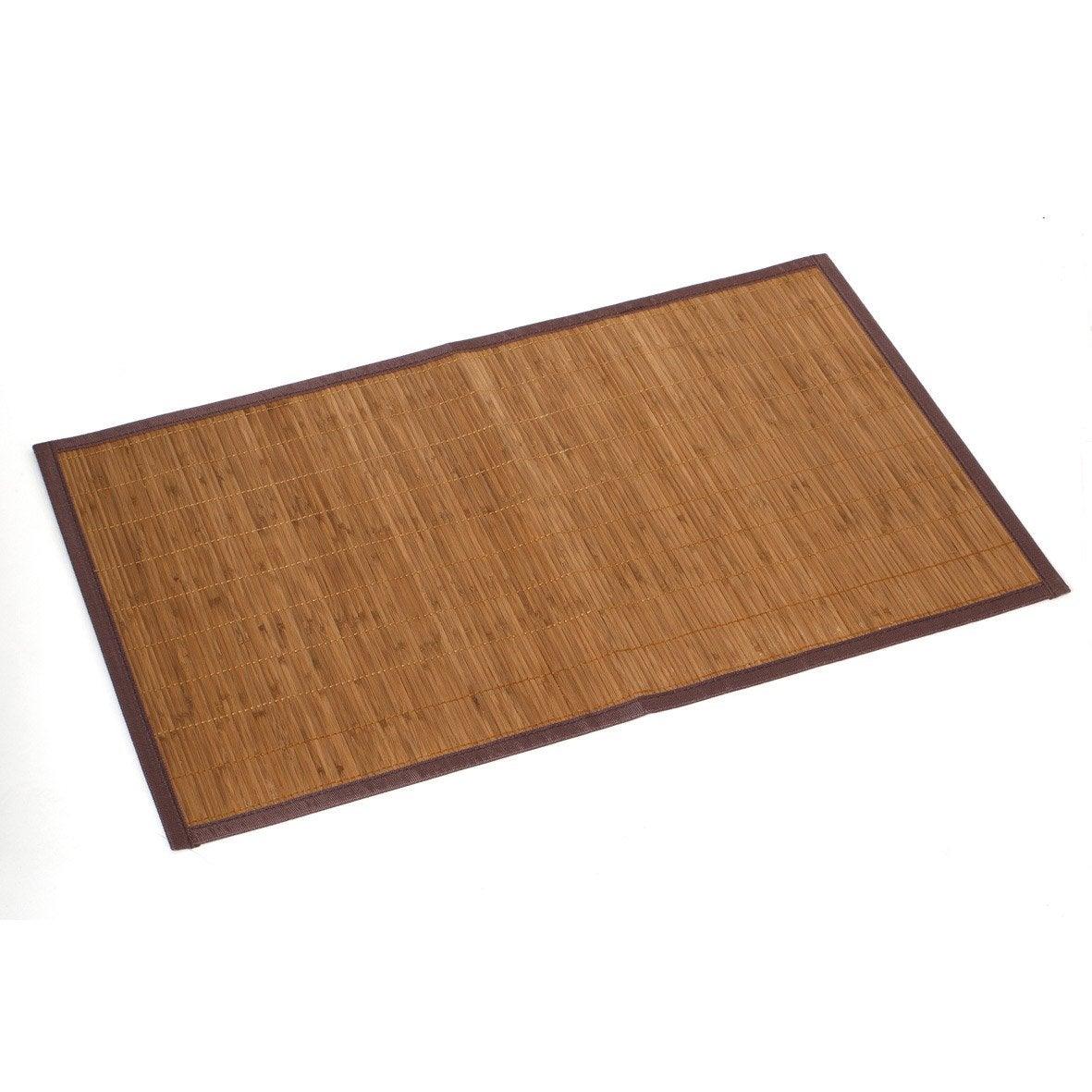 Tapis de bain l.80 x L.50 cm, Bambou