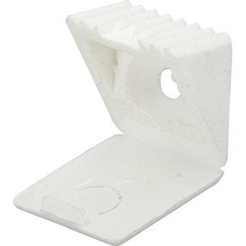 Lot de 60 taquets à visser, plastique blanc