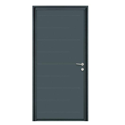 Porte d 39 entr e sur mesure en aluminium nonato excellence for Porte de service aluminium sur mesure