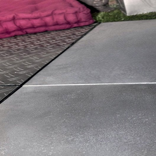 Dalle clipsable b ton snap go gris clair x cm x mm le - Dalle beton gravillonnee ...
