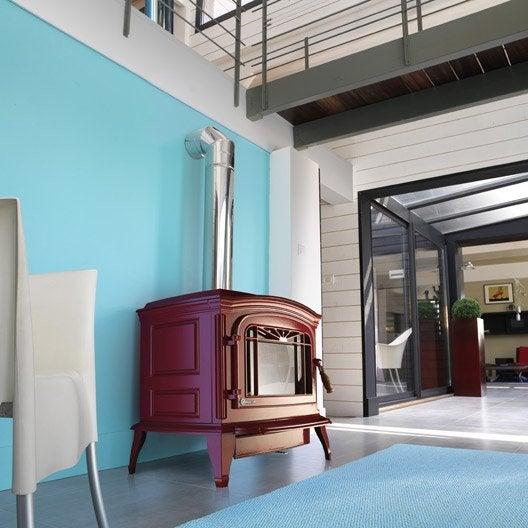 po le bois invicta bradford rouge 6173 47 9 kw leroy merlin. Black Bedroom Furniture Sets. Home Design Ideas