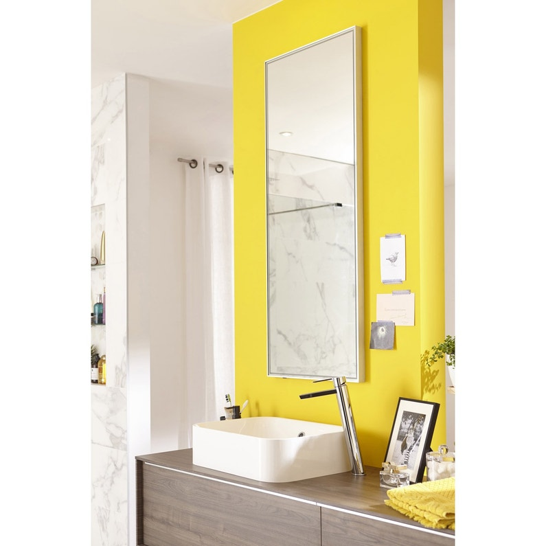 Miroir avec clairage int gr x cm neo leroy merlin for Miroir 50 x 90