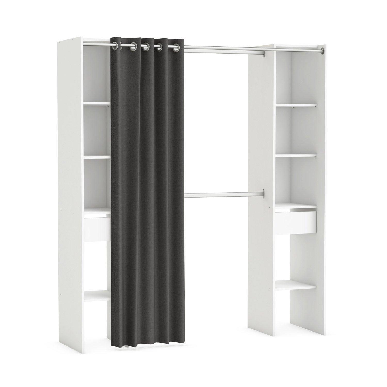 kit dressing blanc star x x cm leroy merlin. Black Bedroom Furniture Sets. Home Design Ideas