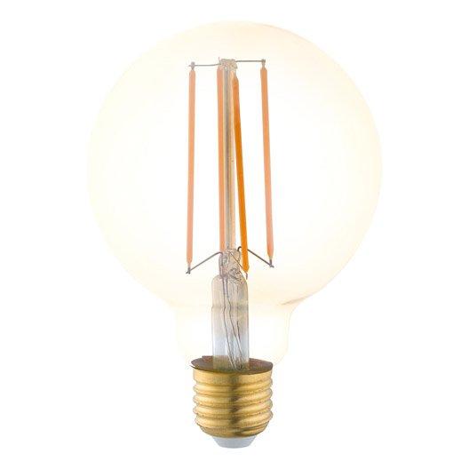 Ampoule vintage LED globe 4W = 300Lm (équiv 40W) E27 1700K EGLO