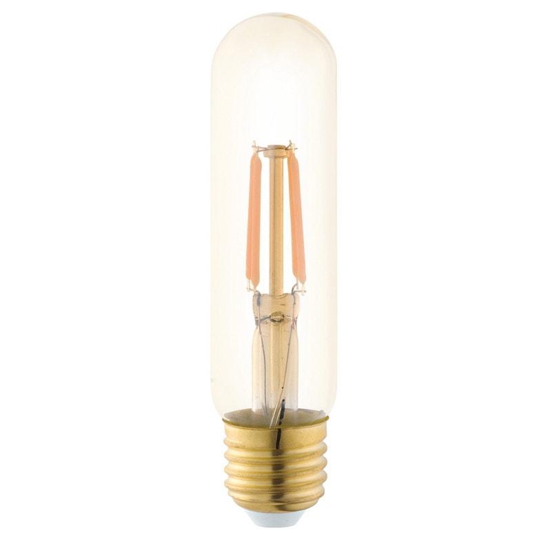 Ampoule Vintage Led Tube 35w 220lm équiv 25w E27 1700k Eglo
