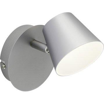 Spot patère LED intégrée led, 1, acier Torsion BRILLIANT