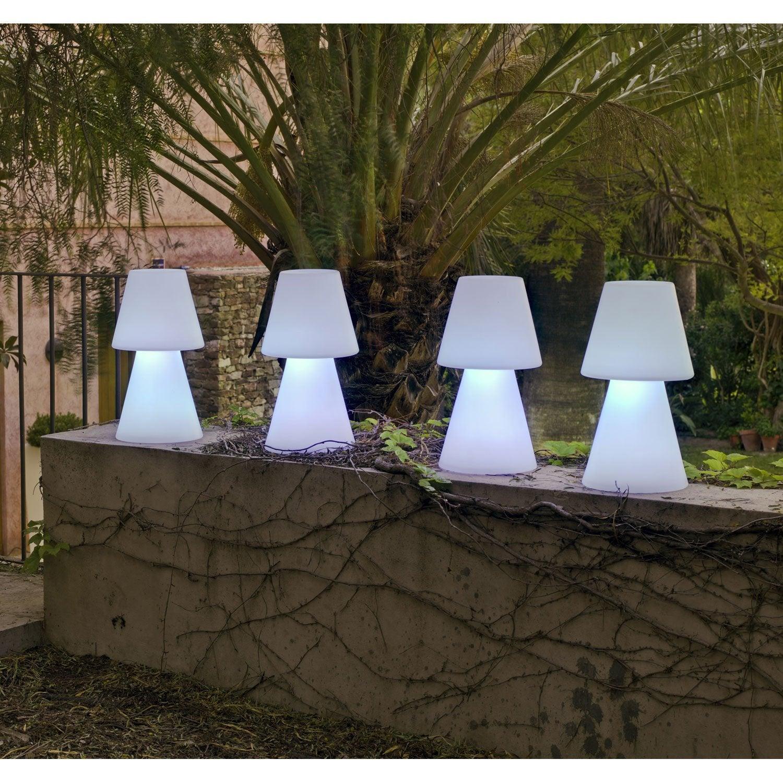 lampe de table ext rieure lola 45 cm e27 25 w 880 lm blanc newgarden leroy merlin. Black Bedroom Furniture Sets. Home Design Ideas