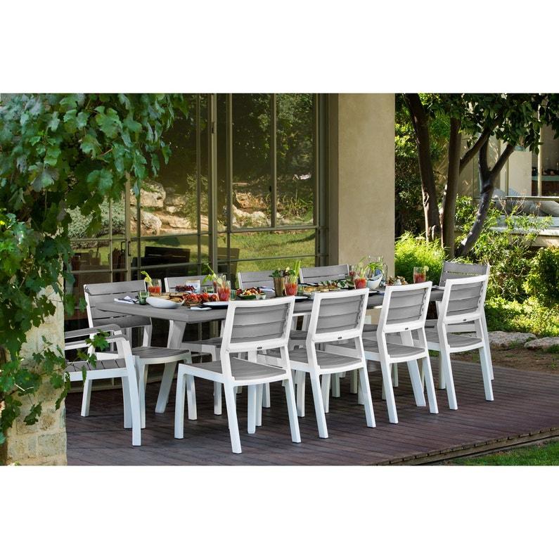 Table de jardin de repas Harmony rectangulaire gris personnes