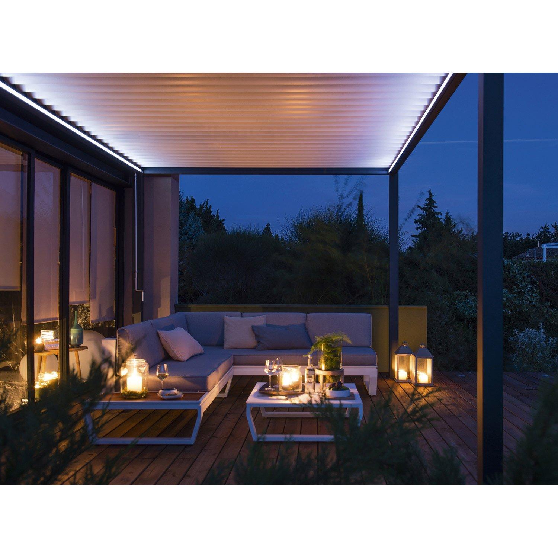 eclairage pour pergola cadix gris aluminium leroy merlin. Black Bedroom Furniture Sets. Home Design Ideas