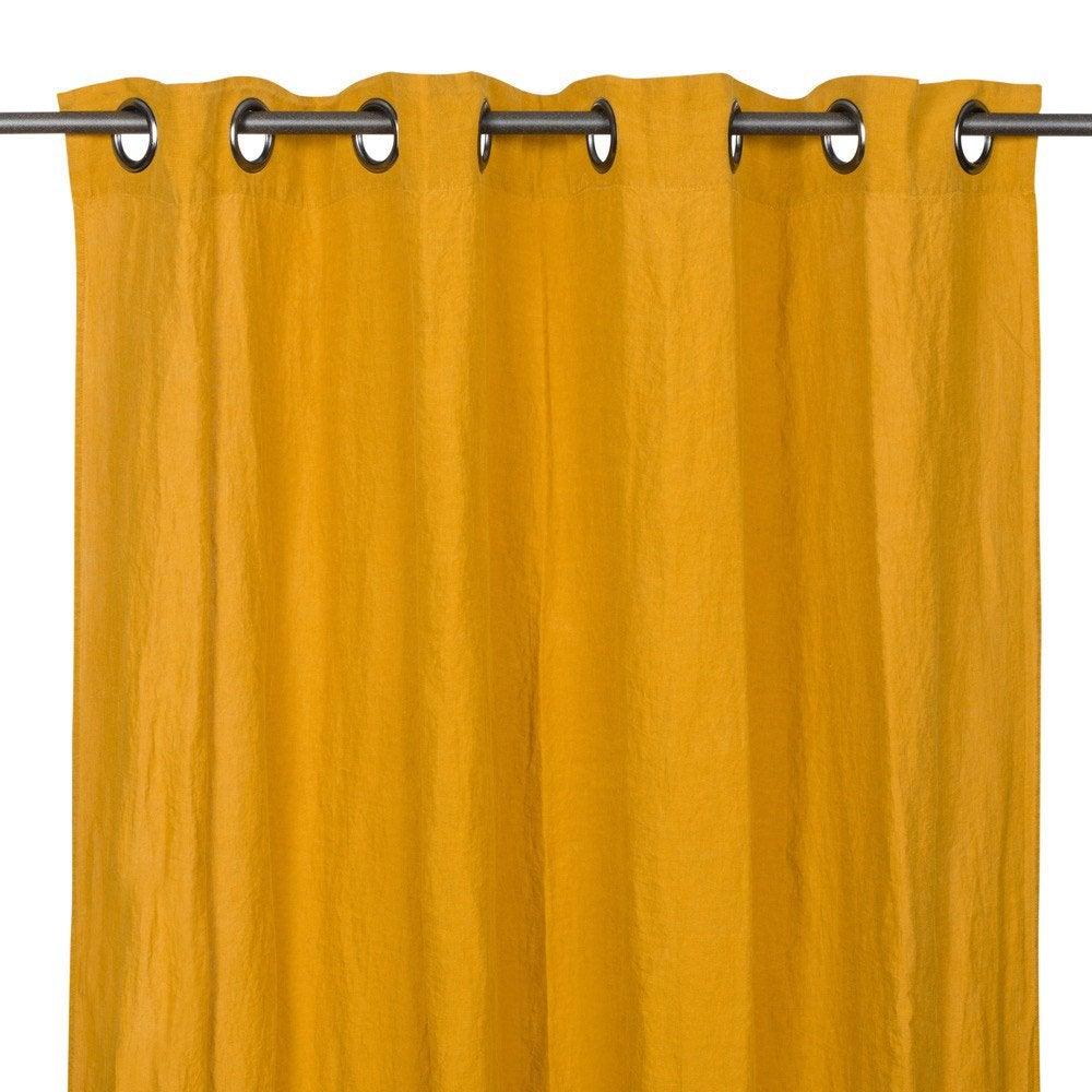 Rideau tamisant, Solenzara, fauve, l.140 x H.280 cm