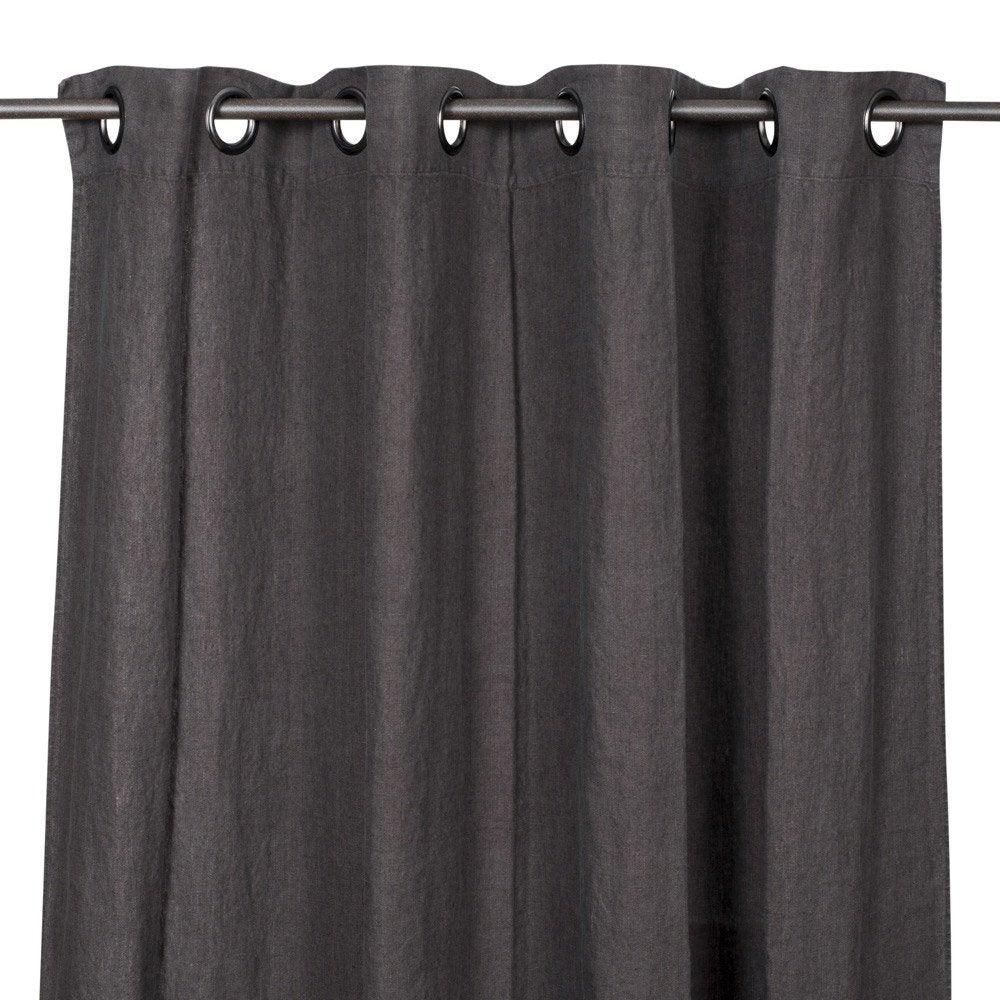 Rideau tamisant, lin, Solenzara charbon l.140 x H.280 cm