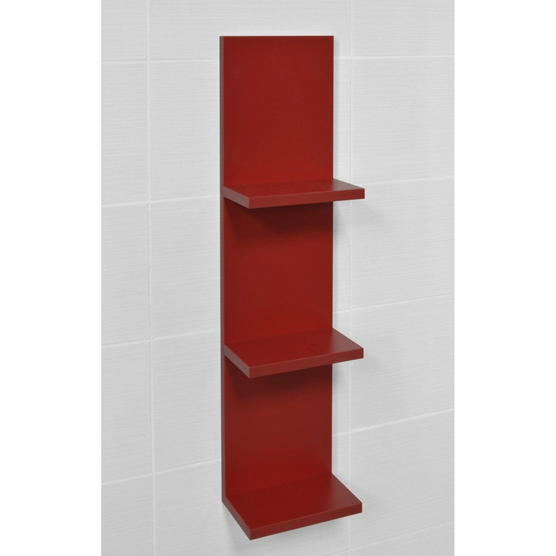 Etagère de WC l.22.2 x H.88.8 x P.13.9 cm rouge, Coin d\'o | Leroy Merlin