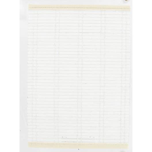 store enrouleur tamisant bois tiss blanc 120 130 x 220 cm leroy merlin. Black Bedroom Furniture Sets. Home Design Ideas
