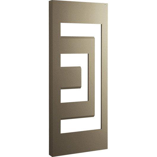 s che serviettes eau chaude acier irsap dedalo marron 640. Black Bedroom Furniture Sets. Home Design Ideas