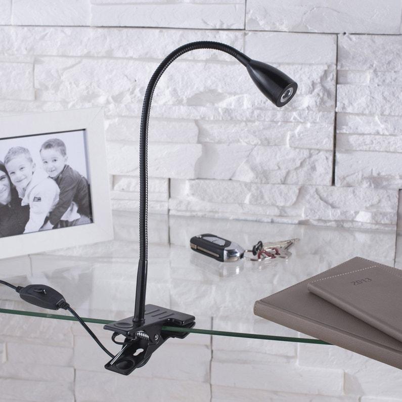 Lampe De Bureau Led Intégrée à Pince Noir Led Gao Inspire