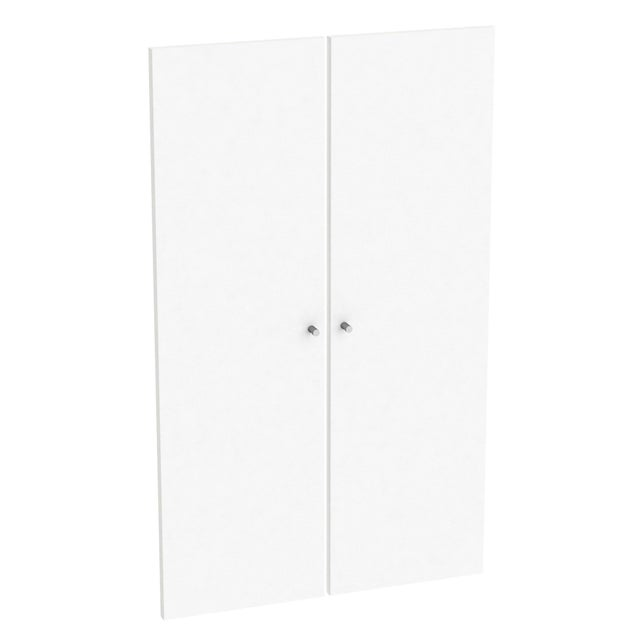 Lot De 2 Portes Battantes Home Blanc Spaceo H100 X L60 Cm