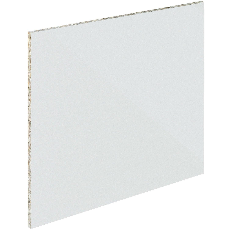Crédence verre trempé Blanc mat délice H.60 cm x Ep.5 mm x L.0.5 cm