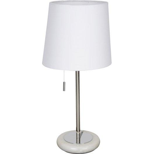 Lampe e14 click corep coton blanc 60 w leroy merlin - Leroy merlin lampe de chevet ...