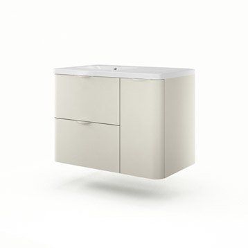 Meuble vasque l.90 x H.64 x P.52.5 cm, grège, SENSEA Neo shine
