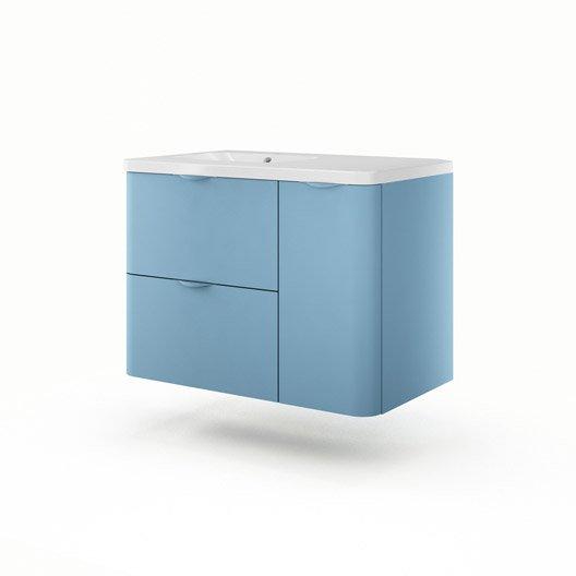 Meuble de salle de bains meuble vasque miroir colonne for Meuble 90 cm