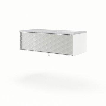Meuble vasque l.105 x H.32 x P.48 cm, blanc, SENSEA Neo frame