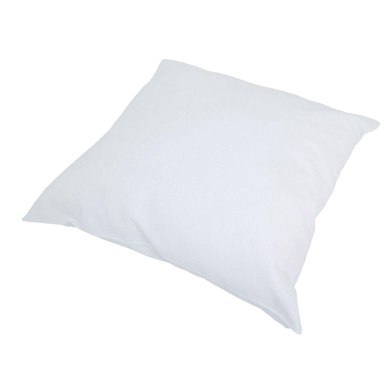 Coussin d'assise de chaise ou de fauteuil Sunny INSPIRE, blanc l.40 x H.40 cm