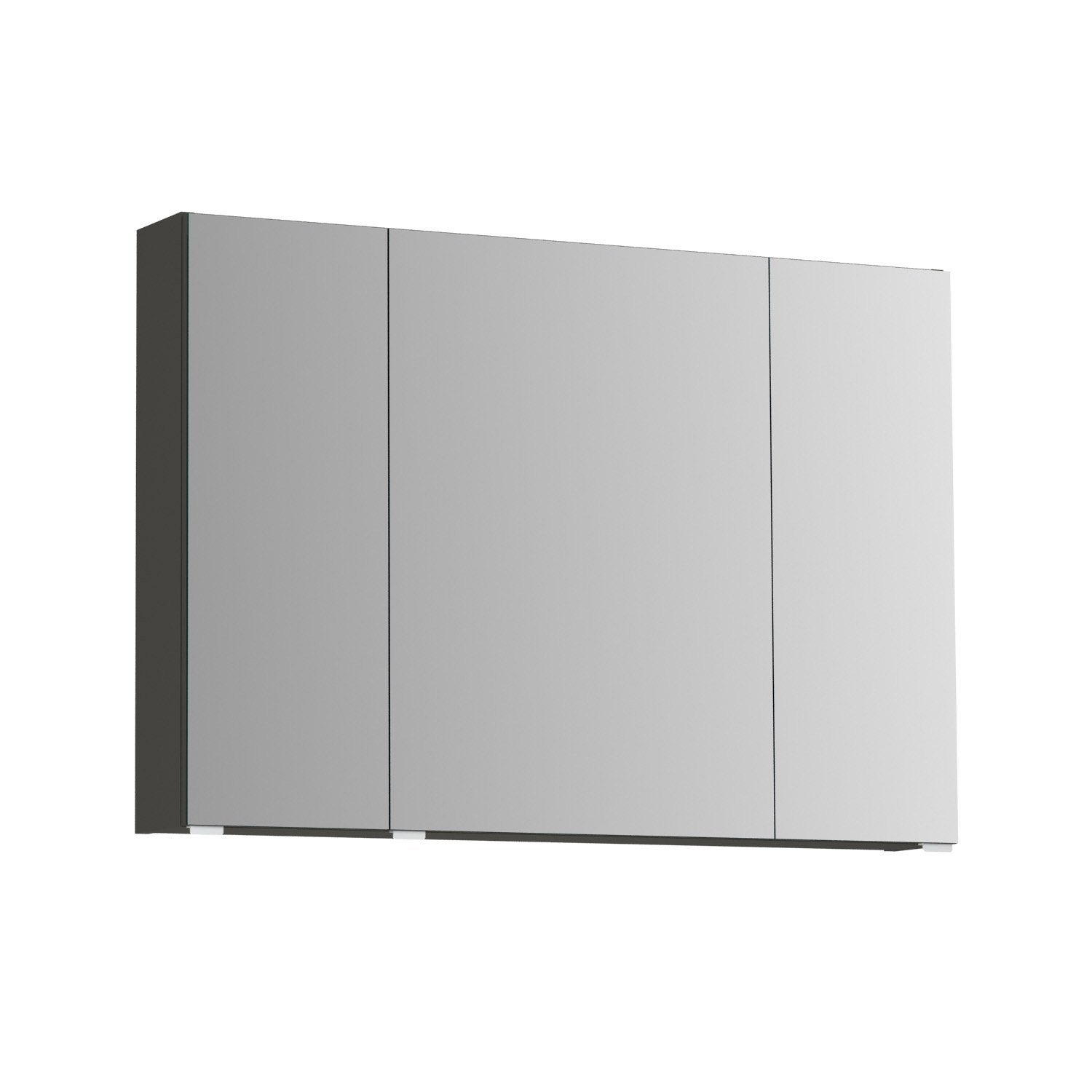 armoire de toilette l 100 cm gris opale leroy merlin. Black Bedroom Furniture Sets. Home Design Ideas