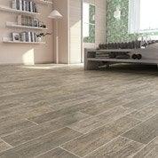 Sol PVC gris celina wood gris, ARTENS Textile l.4 m