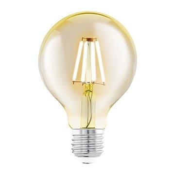 Ampoule Filament LED Globe 80mm E27 4W U003d 330Lm (équiv 40W) 2200K EGLO