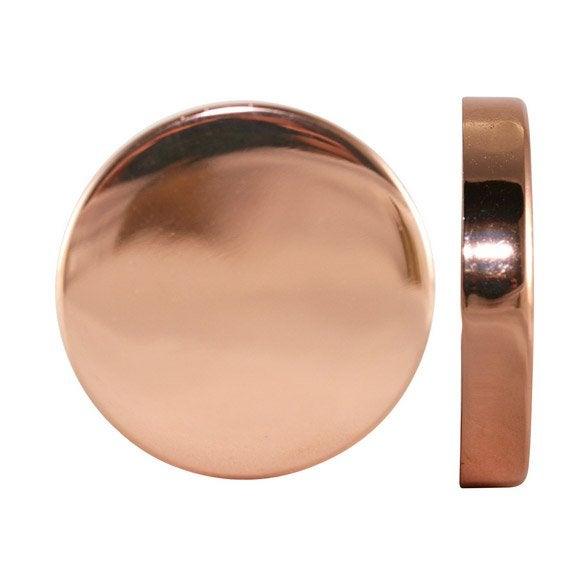 Embout INSPIRE, cuivre brillant, pour tringle à rideau Diam.28 mm