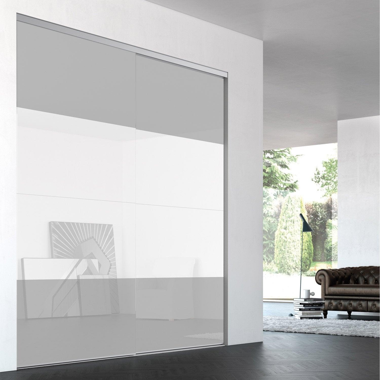 porte de placard coulissante sur mesure iliko quatro de 60 1 80 cm leroy merlin. Black Bedroom Furniture Sets. Home Design Ideas