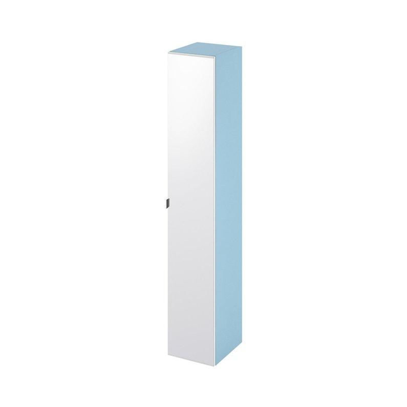 Colonne De Salle De Bains L30 X H173 X P348 Cm Bleu 3d Remix
