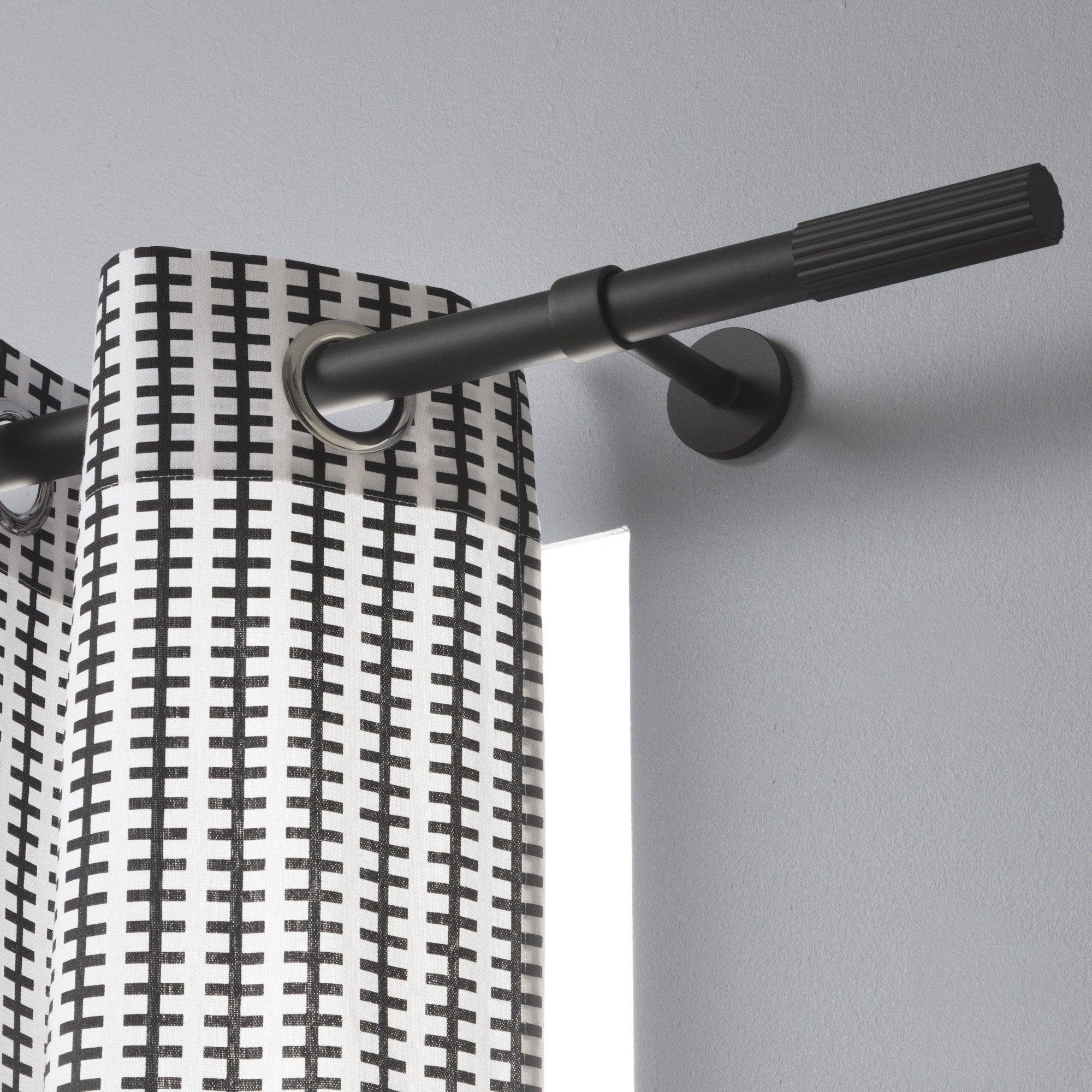Tringle à rideau Design noir mat 250 cm INSPIRE