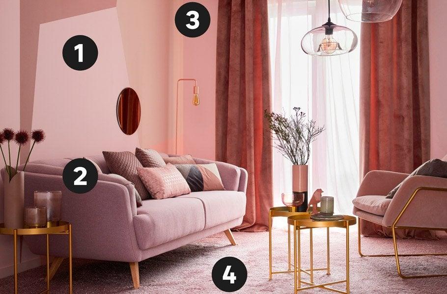 Du Poudré Au Cuivré, Le Rose Affirme Une Palette Riche Et Variée 3. Quand  La Couleur Structure Lu0027espace