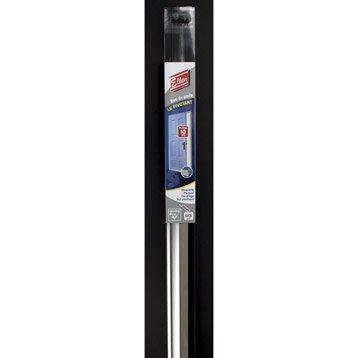 Bas de porte à visser lèvre ELLEN,  L.93 cm aluminium