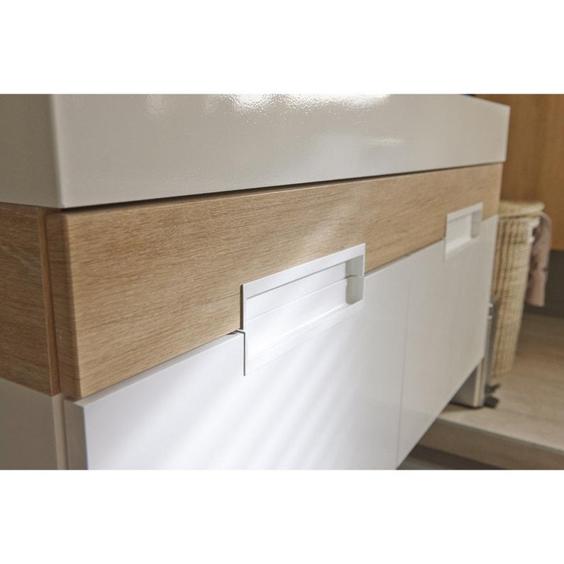 Plan Vasque 1 Robinet Resine 100 Cm : Plan vasque simple eden résine de synthèse cm leroy