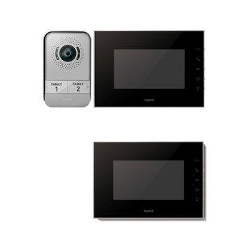 Pack visiophone 1 platine + 2 écrans filaire, LEGRAND Miroir