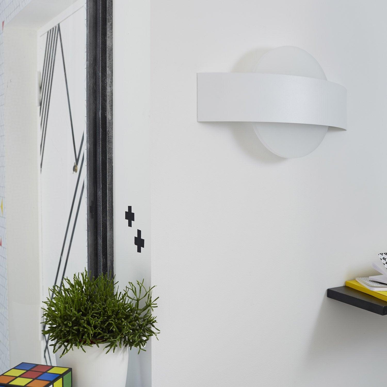 Applique, design led intégrée Senj métal Blanc, 2 INSPIRE