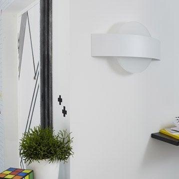 Applique design led intégrée Senj métal Blanc, 2 INSPIRE