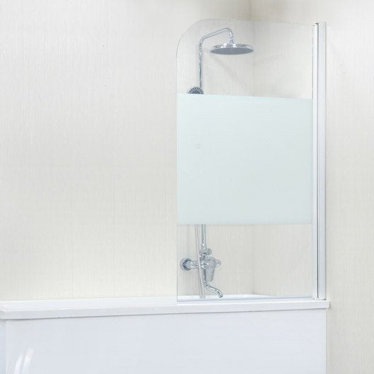pare baignoire salle de bains au meilleur prix leroy. Black Bedroom Furniture Sets. Home Design Ideas