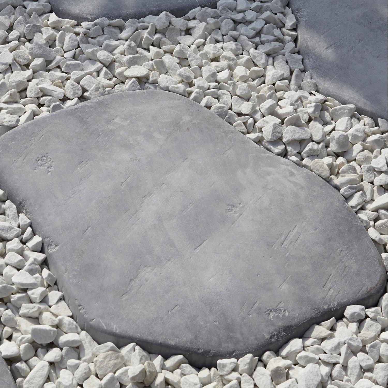 pas japonais castel en pierre reconstitu e gris bleu x x ep 2 2 cm leroy merlin. Black Bedroom Furniture Sets. Home Design Ideas