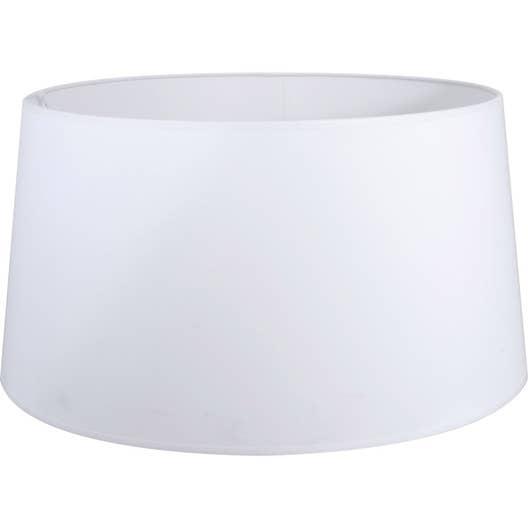 Abat-jour Toiline, 45 cm, toiline, blanc-blanc n°0 INSPIRE | Leroy ...