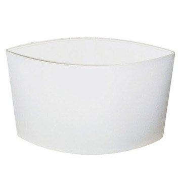 Abat-jour Loon, 40 cm, toiline, blanc-blanc n°0 INSPIRE