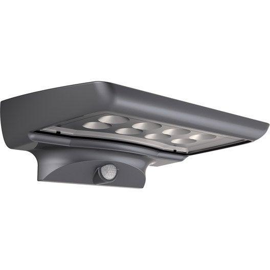 Applique solaire 300 lm gris xanlite leroy merlin for Lampe solaire exterieur xanlite
